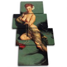 Vintage Girl Retro Pin-ups Nude - 13-2049(00B)-MP04-PO